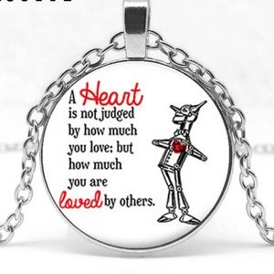 Wizard of Oz Tin Man Heart Loved Necklace